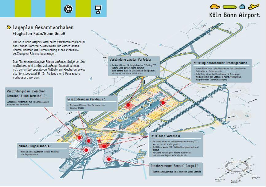 Planfeststellungsverfahren Flughafen KlnBonn zusammen gegen noch